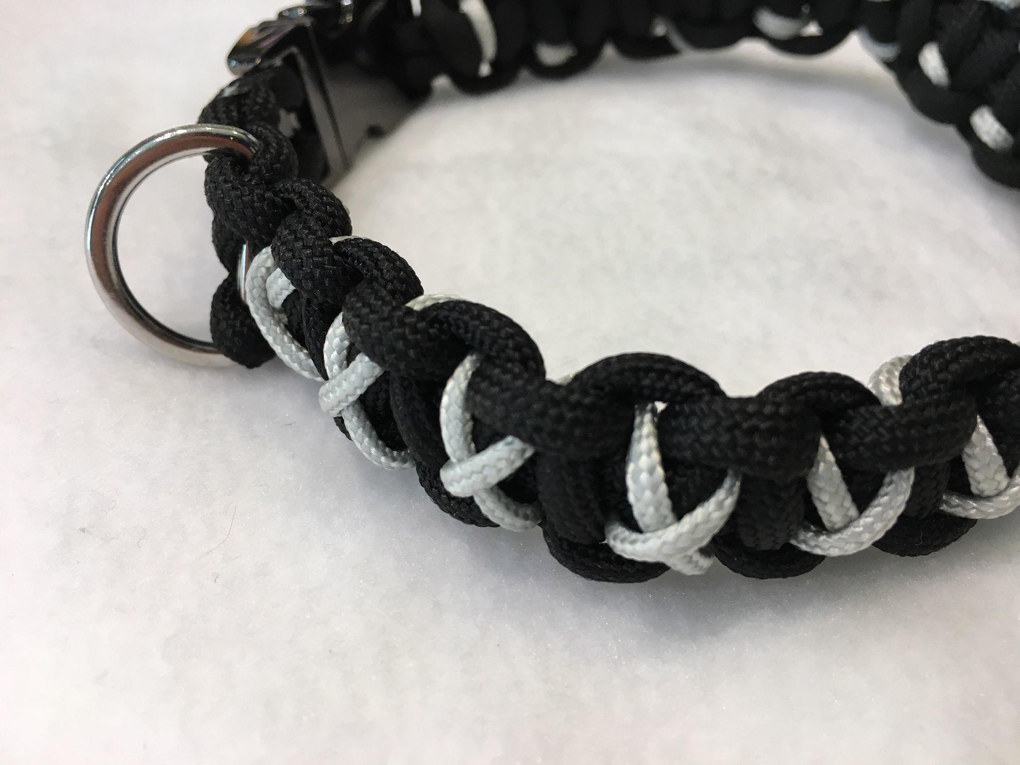 Snoef paracord halsband medium draad