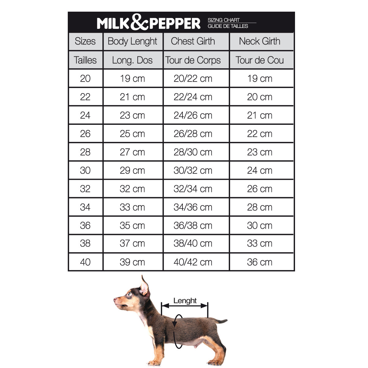 Milk&pepper admiral 28cm
