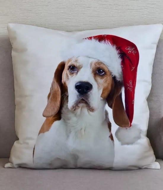 Snoef kussensloop zacht 45x45 cm beagle