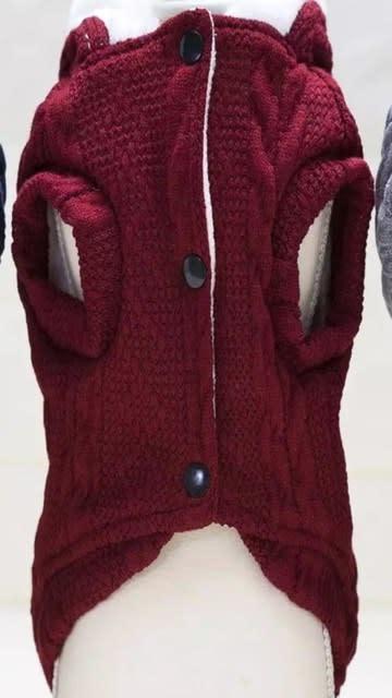 Snoef bordeau kabelsweater