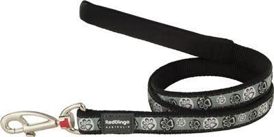 Red dingo lijn paw black S 15mm