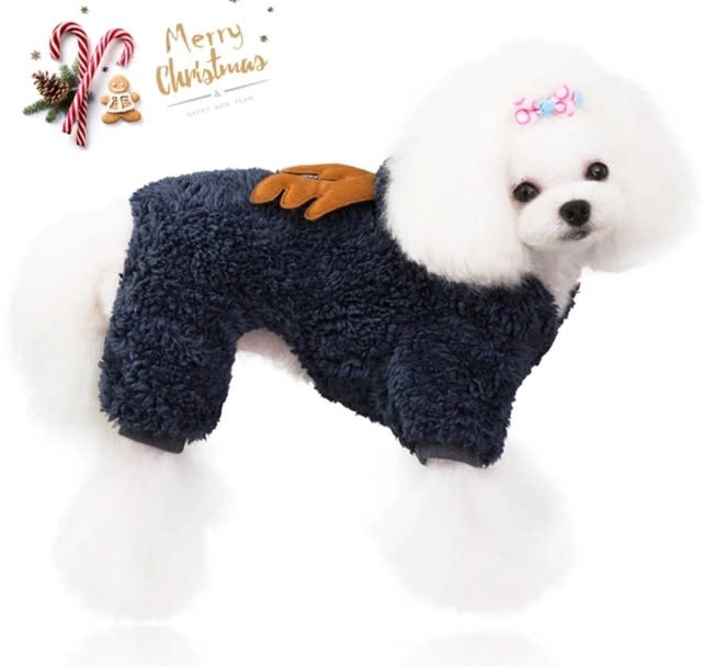 Snoef grijze kerstsweater 4 pootjes M