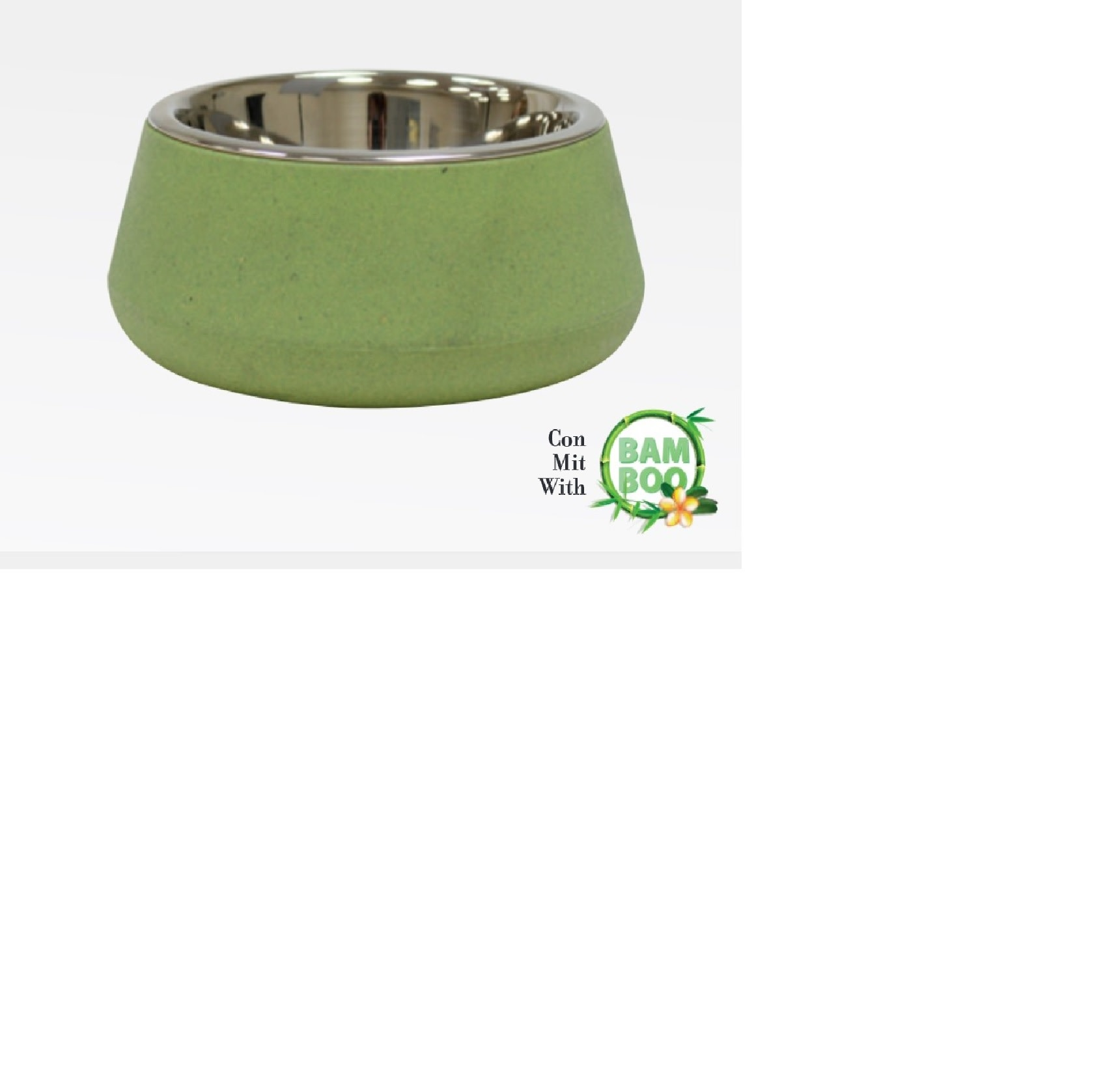 Croci Bamboo inox eetpot 800ml