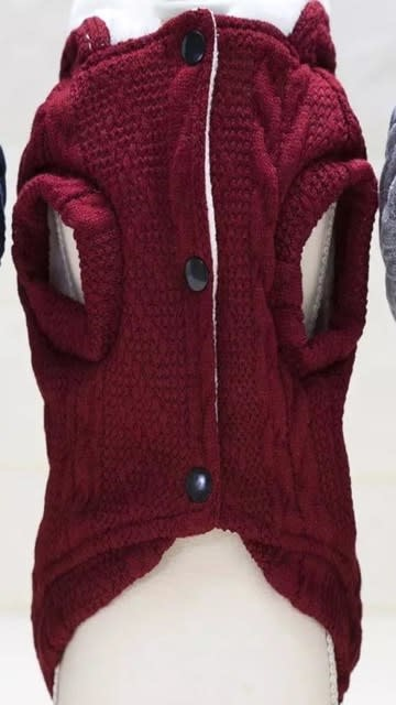 Snoef bordeau kabelsweater XL 40cm