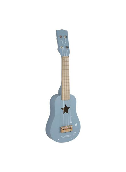 Little Dutch Houten Gitaar blauw Little Dutch