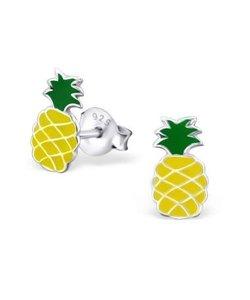 Zilveren oorbellen ananas
