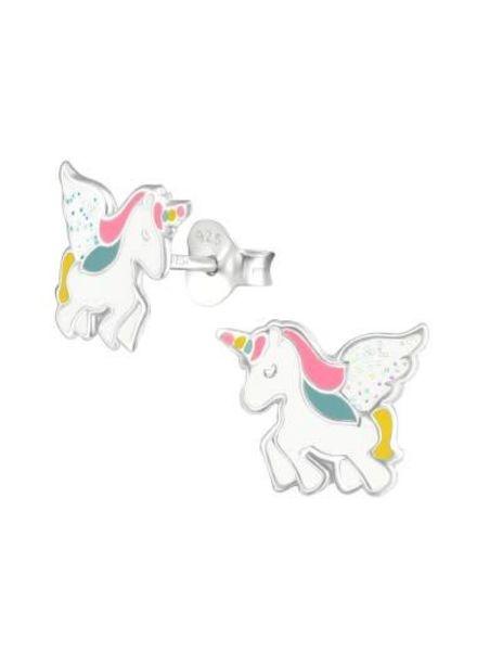 Glitter eenhoorn oorbellen