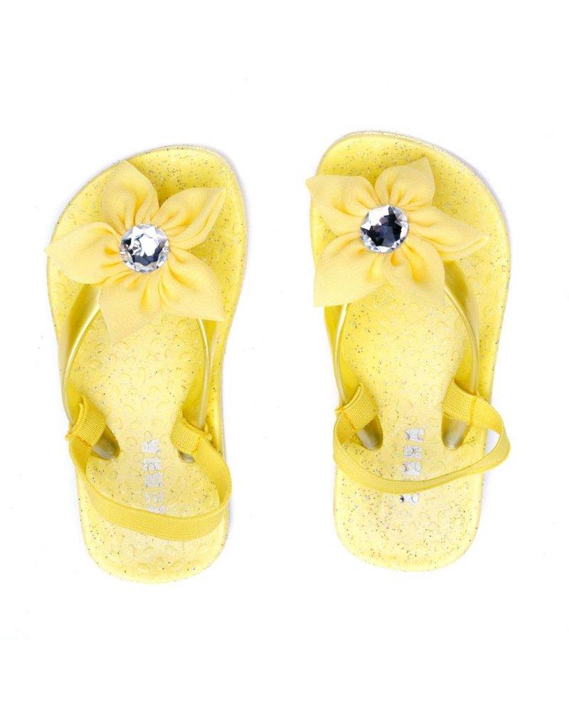 Zebra Slippers geel