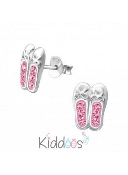 Ballerina zilveren oorbellen