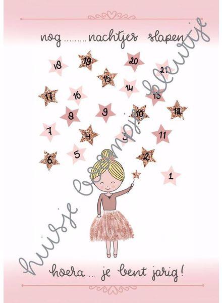 Verjaardag aftelkalender prinses