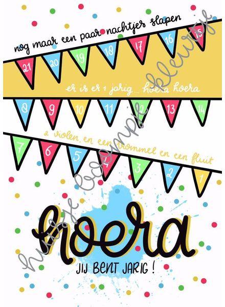 Verjaardag aftelkalender feest