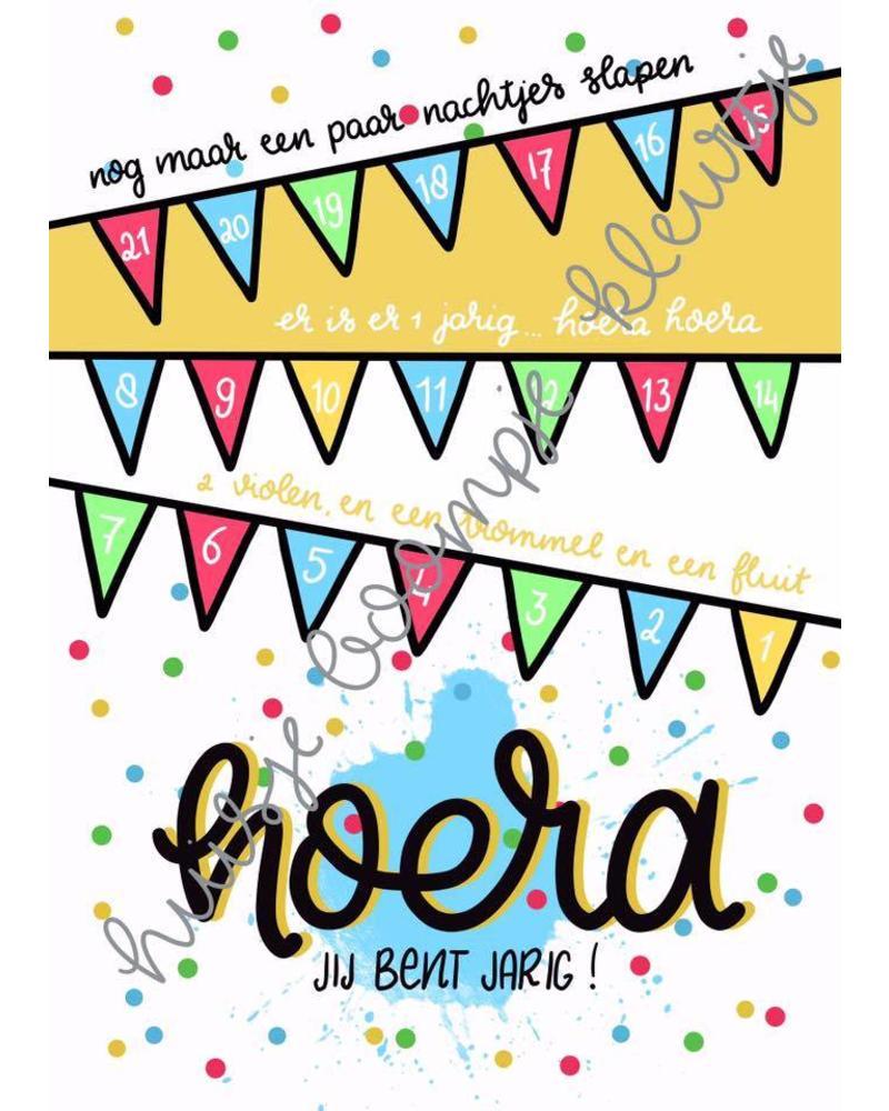Verjaardag Aftelkalender Feest Kiddoos