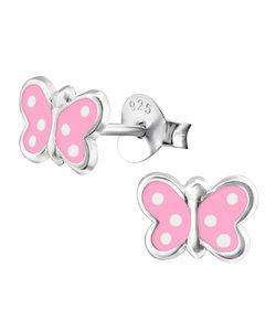Zilveren oorbellen vlinder