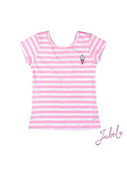 Jubel T-shirt streep Discodip Jubel
