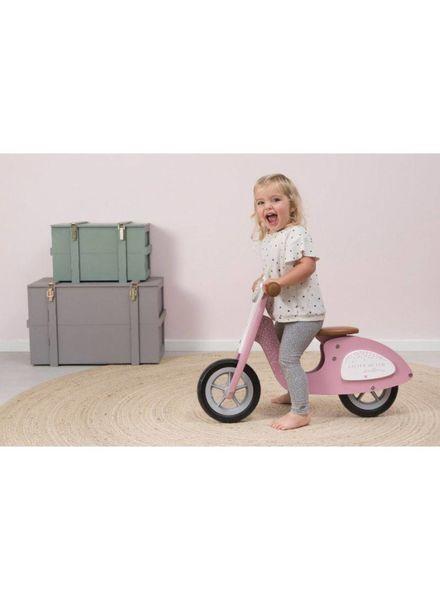 Little Dutch Houten loopscooter roze