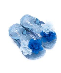 Slippers blauw met bandje