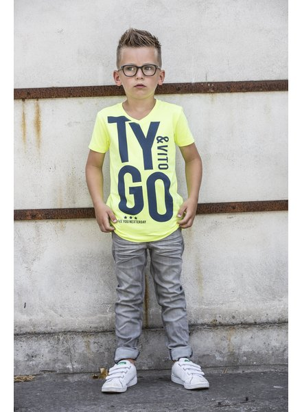 T-shirt geel (6446) T&V