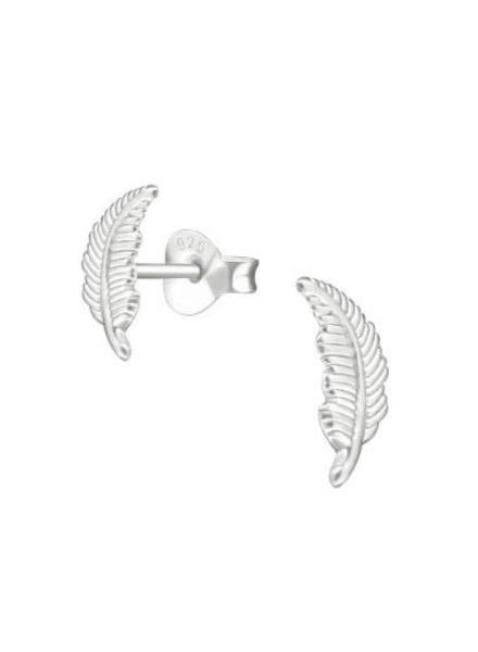 Zilveren veer oorstekers