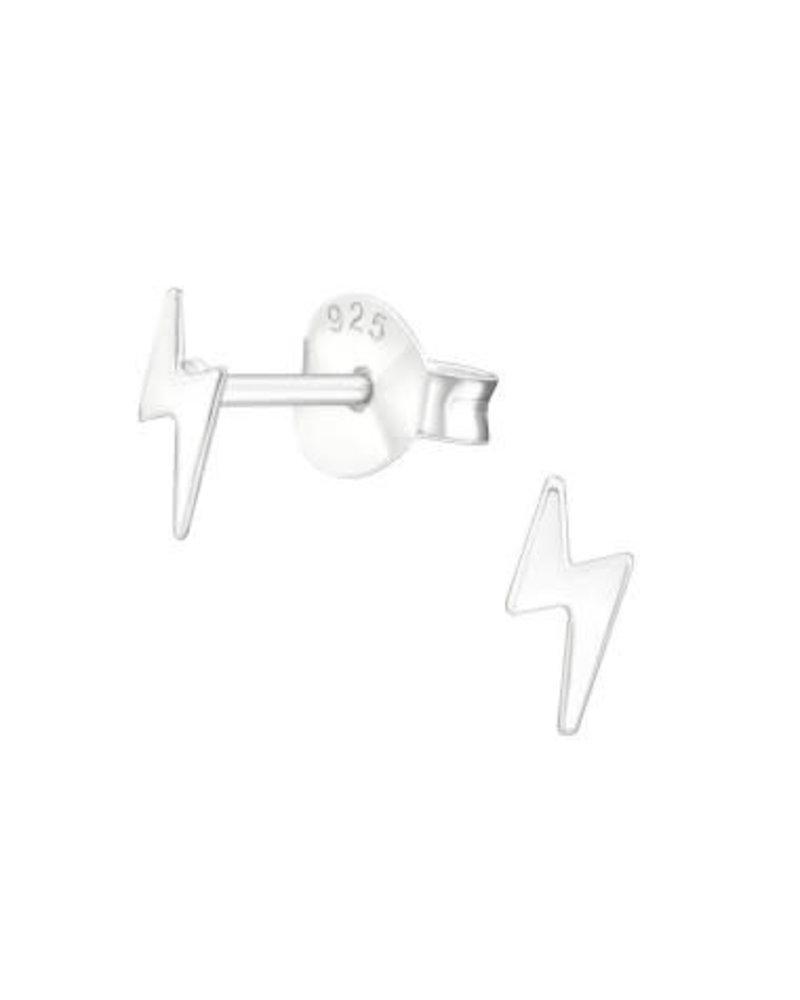 Zilveren bliksem oorstekers