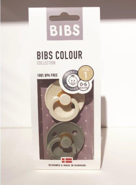 Bibs Set Bibs spenen Mint/Vanille