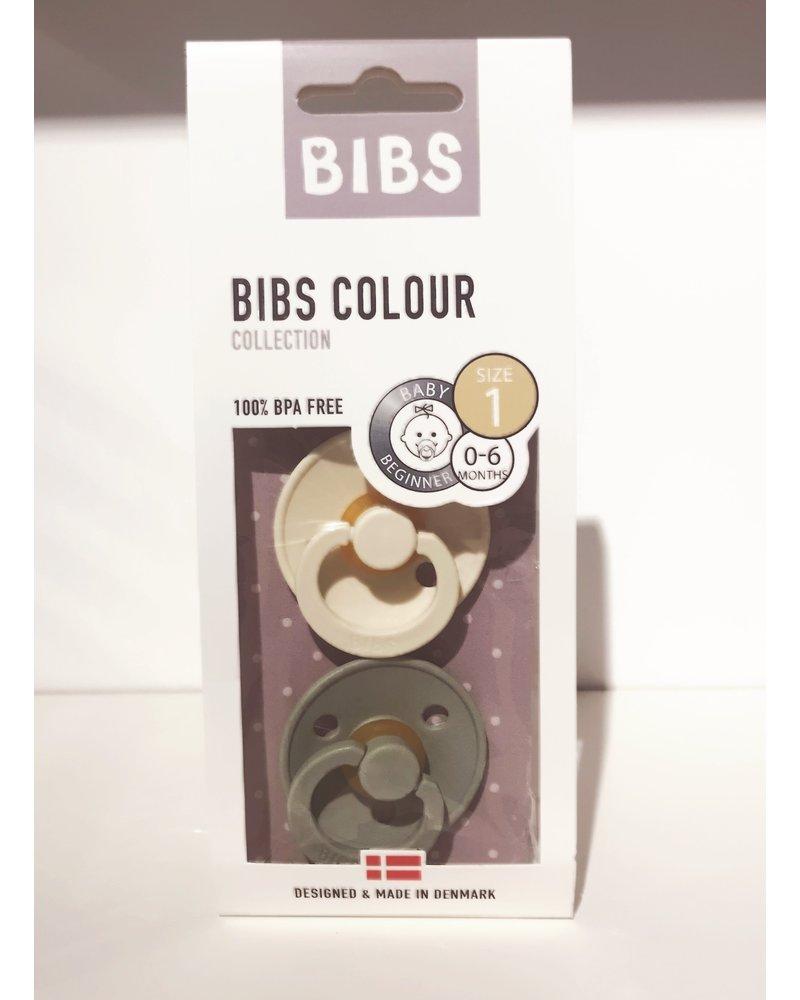 Set Bibs spenen Mint/Vanille