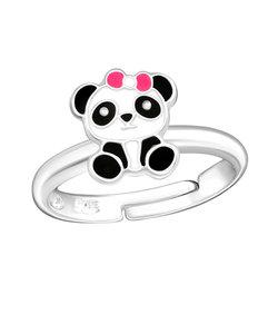 Zilveren ring Panda
