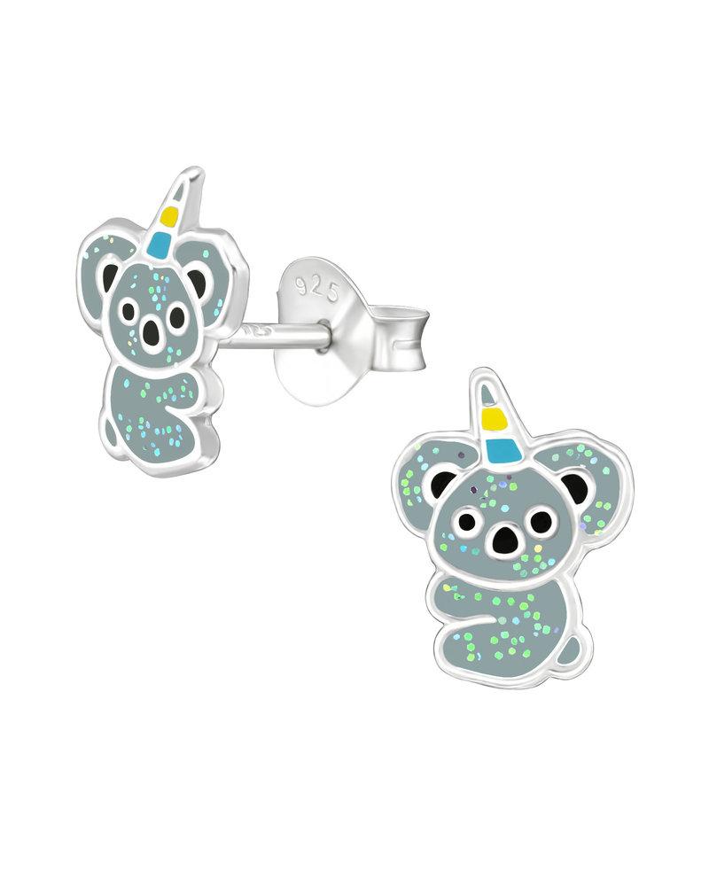 Koala zilveren oorbellen