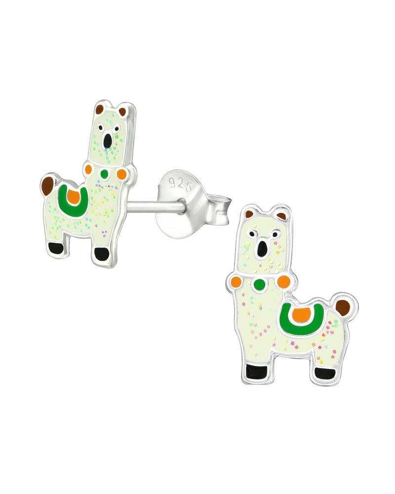 Alpaca zilveren oorbellen