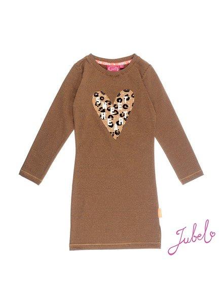 Jubel Jurk streep / lang - Leopard Lipstick Jubel
