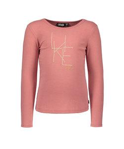 Flo girls jersey ls tee LIKE FLO roze