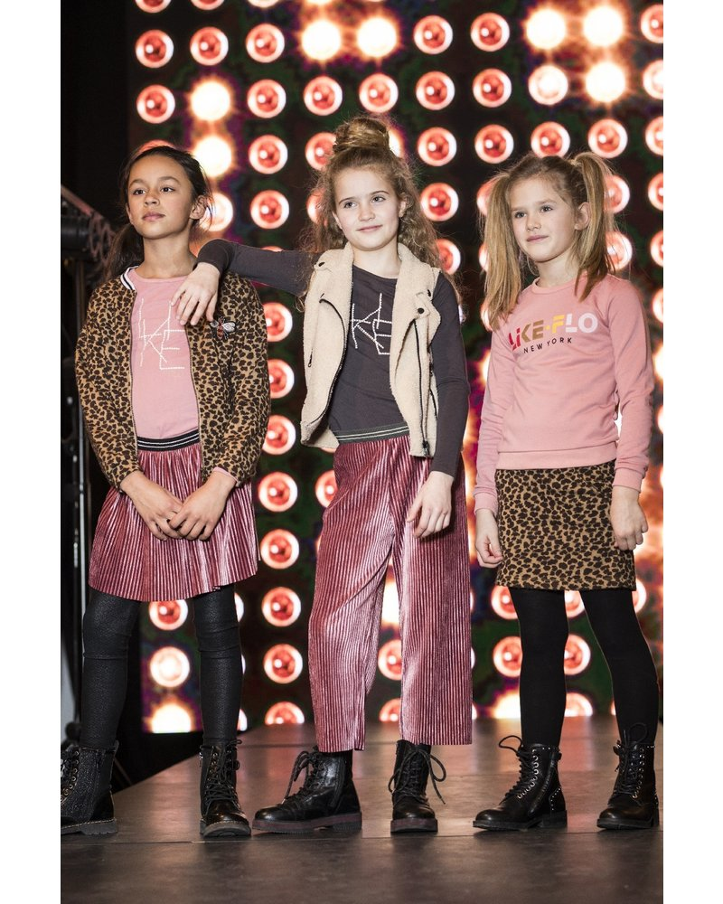 Like Flo Flo girls jersey ls tee LIKE FLO roze