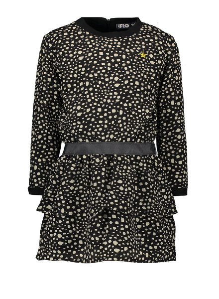 Like Flo Flo girls AO black dot dress
