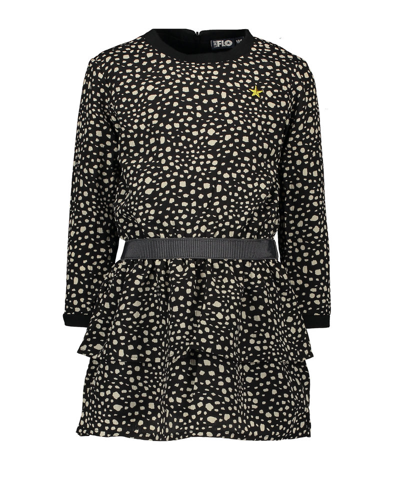 Like Flo Flo girls AO black dot dress