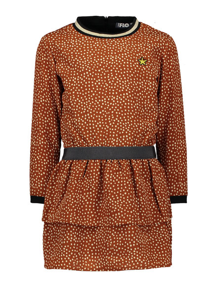 Like Flo Flo girls AO cognac dot dress