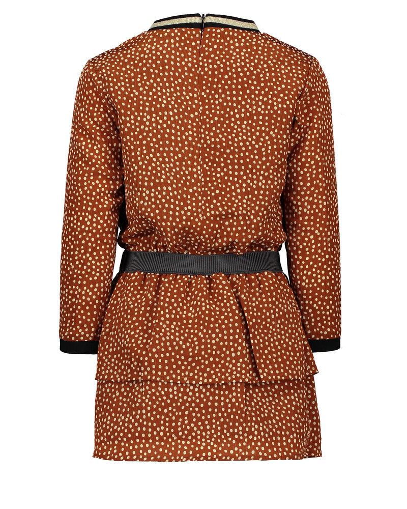 Like Flo Flo girls AO cognac dot dress