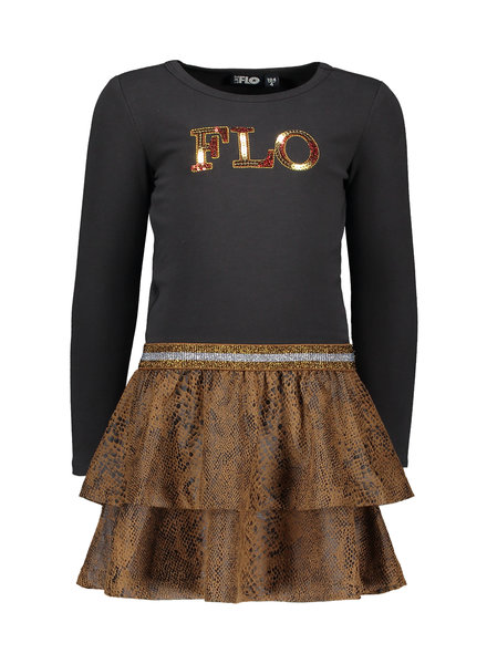 Like Flo Flo girls suede snake jersey dress
