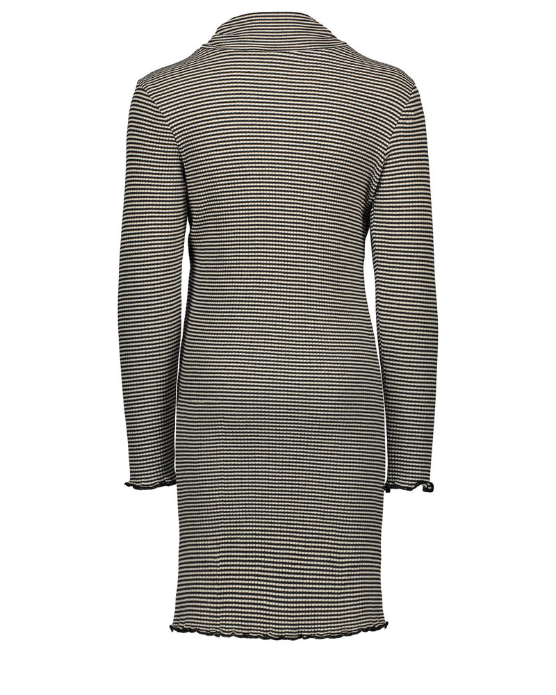Like Flo Flo girls yd striped rib rollneck dress