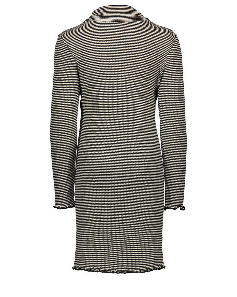 Like Flo Flo girls yd striped rib rollneck dress