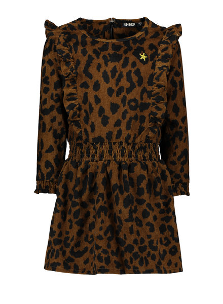 Like Flo Flo girls rib animal ruffle dress