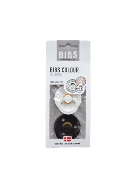 Bibs Set Bibs spenen zwart/wit