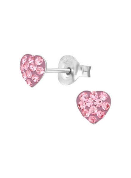 Roze hartjes oorbellen