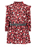 Like Flo Flo girls rib turtle neck ls dress with woven skirt