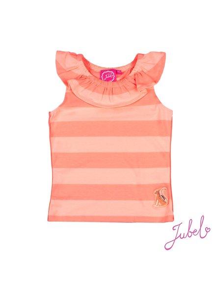Jubel Singlet streep - Botanic Blush
