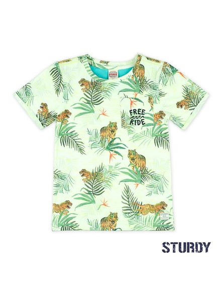 Sturdy T-shirt AOP - Wild Wanderer wit