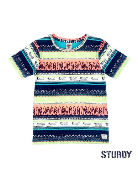 Sturdy T-shirt AOP - Wild Wanderer blauw