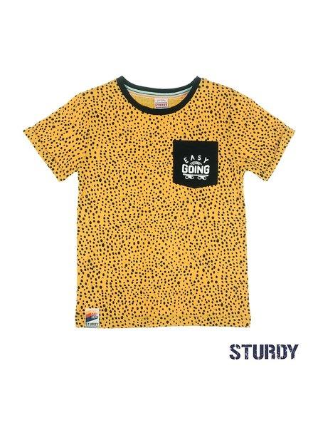 Sturdy T-shirt AOP - Thrillseeker geel