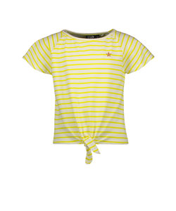 Flo girls yd stripe knotted top