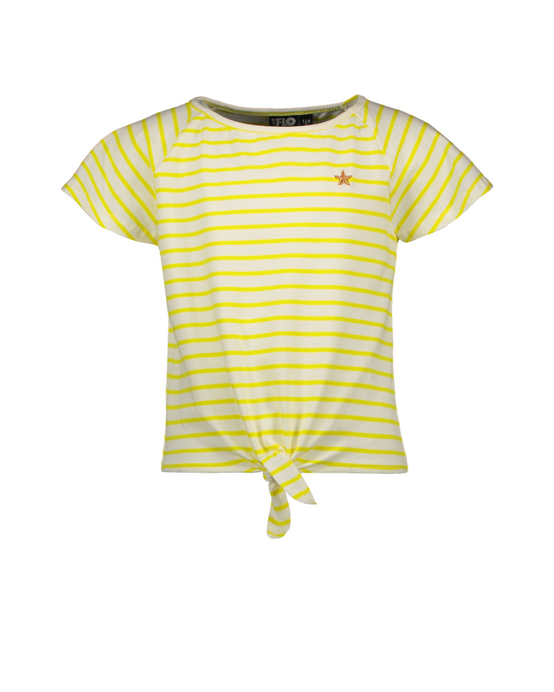 Like Flo Flo girls yd stripe knotted top