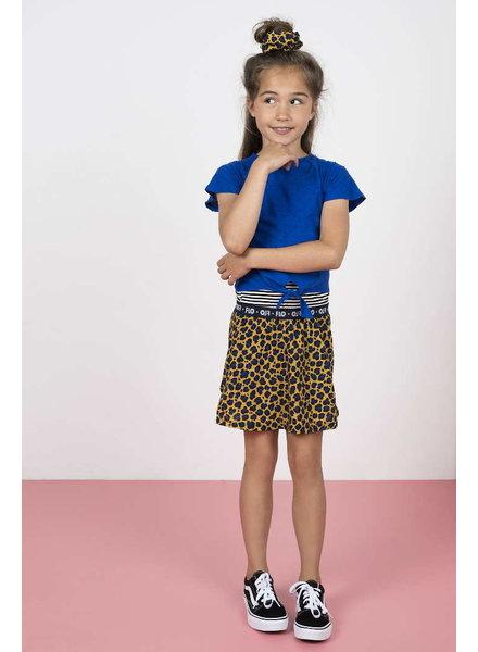Like Flo Flo girls 2pc viscose dot dress with AO panter skirt and knotted stripe tee
