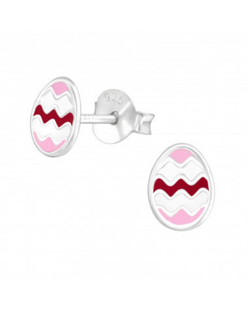 paasei zilveren oorbellen